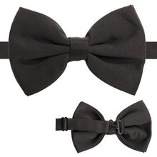 Load image into Gallery viewer, Axis Black Adjustable Satin Bowtie - Ferrecci USA