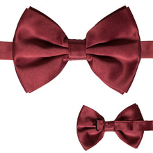 Load image into Gallery viewer, Axis Burgundy Adjustable Satin Bowtie - Ferrecci USA