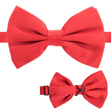 Load image into Gallery viewer, Axis Red Adjustable Satin Bowtie - Ferrecci USA