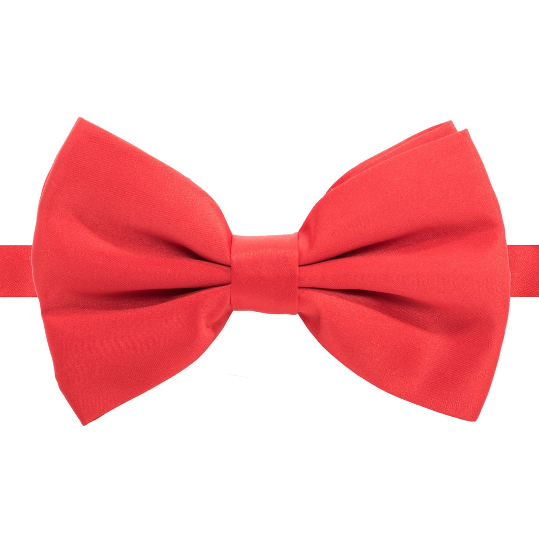 Axis Red Adjustable Satin Bowtie - Ferrecci USA