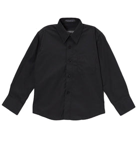 Premium Solid Cotton Blend Black Shirt - Ferrecci USA