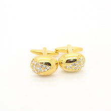 Load image into Gallery viewer, Goldtone Gemstone Cuff Links With Jewelry Box - Ferrecci USA