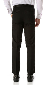 CROMWELL Slim Fit Black Tuxedo Pants - Ferrecci USA