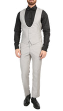 Load image into Gallery viewer, Mens Daxson Grey Slim Fit Shawl Collar 3pc Tuxedo - Ferrecci USA