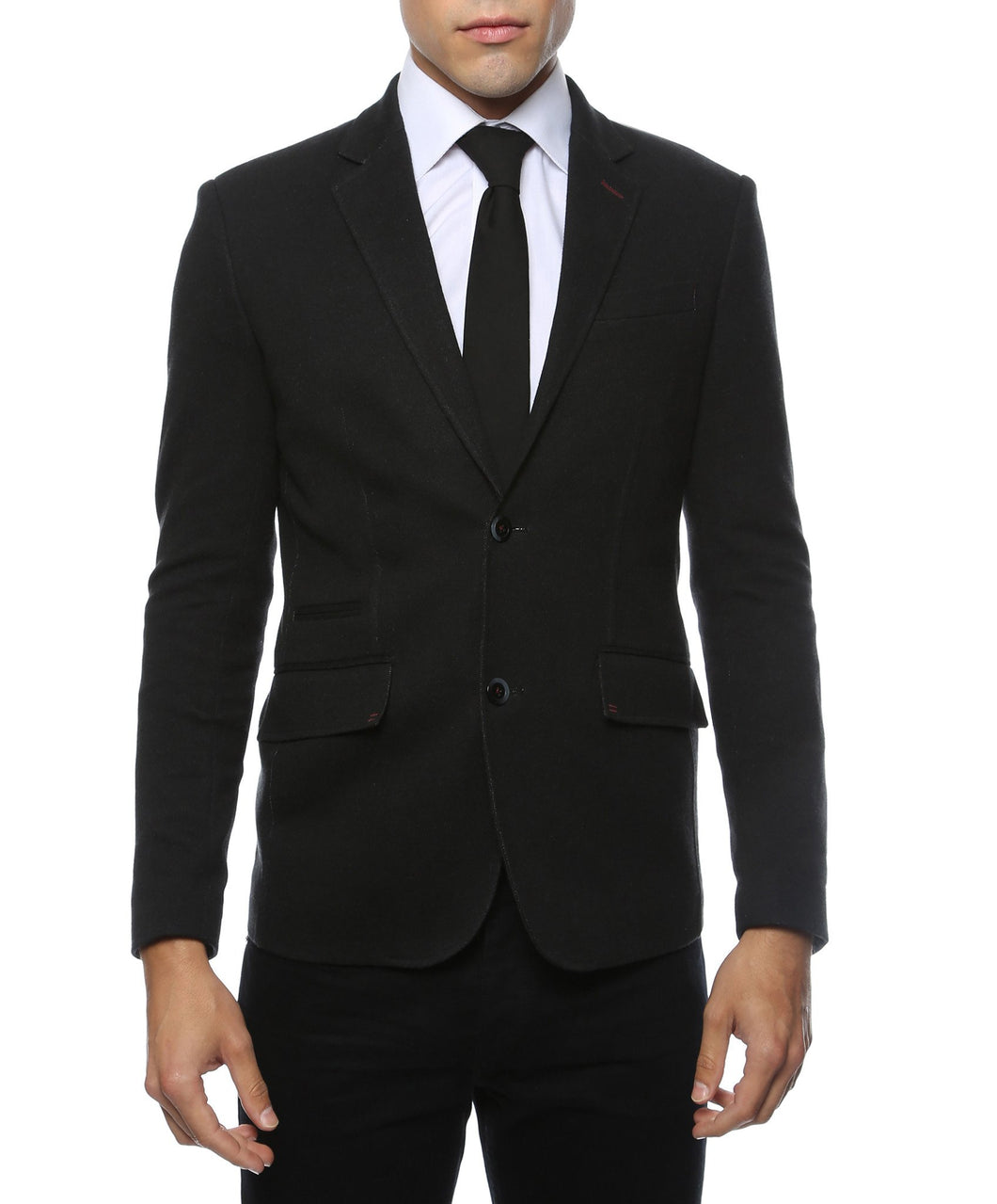 Daytona Black Stretch Slim Fit Blazer - Ferrecci USA