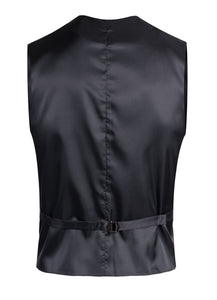 Drapper Mens 5 Button Black Vest - Ferrecci USA