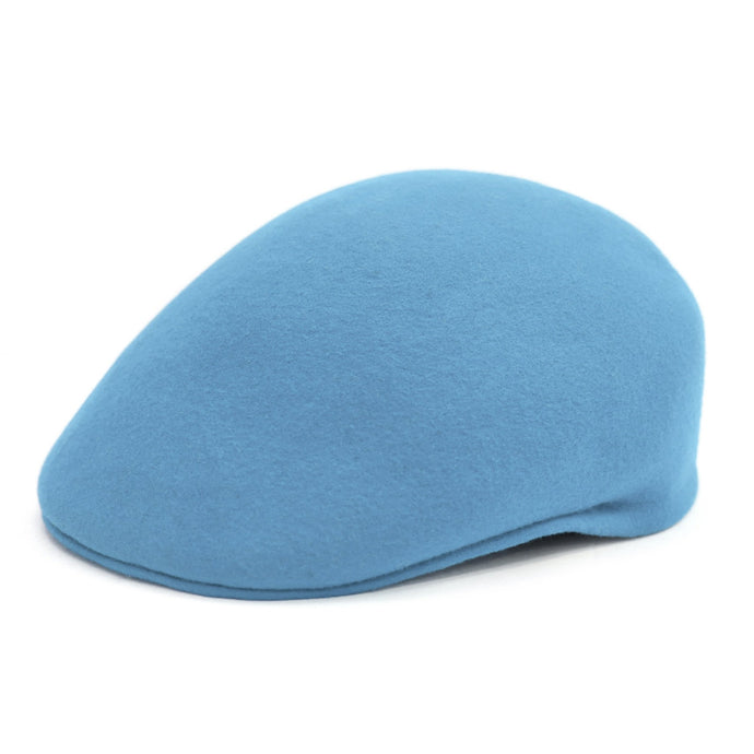 Classic Premium Wool Sky Blue English Hat - Ferrecci USA