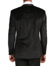 Load image into Gallery viewer, Enzo Black Slim Fit Velvet Shawl Collar Tuxedo Blazer - Ferrecci USA
