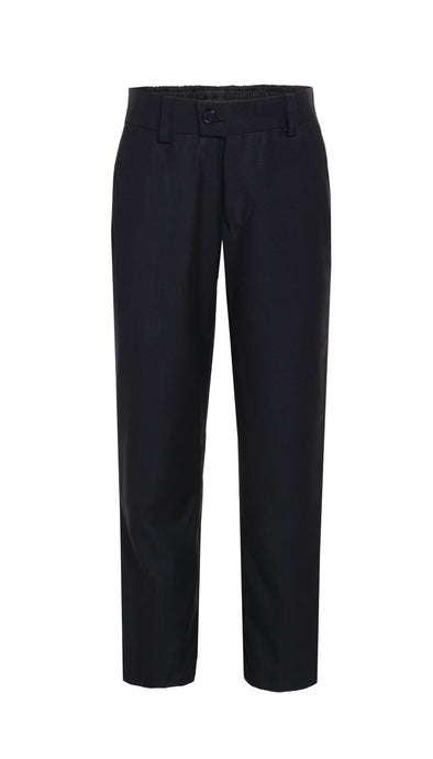 Ezra Black Regular Fit Boys Dress Pants - Ferrecci USA
