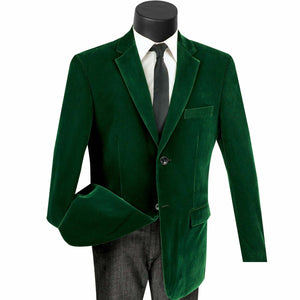 Velvet Sport Coat Color Emerald