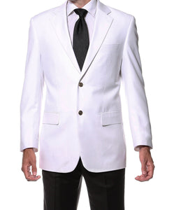 White Gold Button Regular Fit Blazer - Ferrecci USA