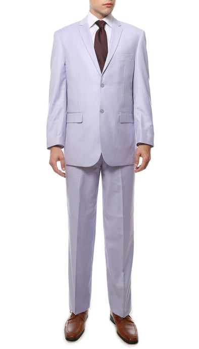 Premium FE28001 Lilac Regular Fit Suit - Ferrecci USA