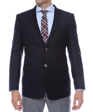 Load image into Gallery viewer, Finn Gold Button Slim Fit Navy Blazer - Ferrecci USA