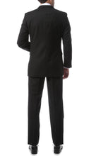Load image into Gallery viewer, Premium FNL22R Mens 2 Button Regular Fit Black Suit - Ferrecci USA