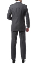 Load image into Gallery viewer, Premium FNL22R Mens 2 Button Regular Fit Heather Grey Suit - Ferrecci USA