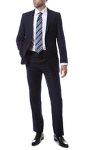 Load image into Gallery viewer, Mens 2 Button Navy Blue Regular Fit Suit - Ferrecci USA