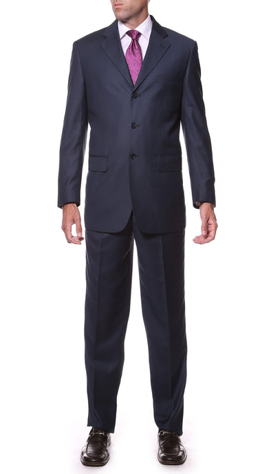 FS23 Navy Regular Fit 2pc 3 Button Suit - Ferrecci USA
