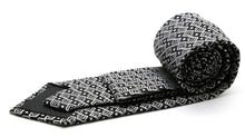 Load image into Gallery viewer, Mens Dads Classic Black Geometric Pattern Business Casual Necktie & Hanky Set G-1 - Ferrecci USA
