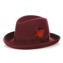 Load image into Gallery viewer, Ferrecci Premium Burgundy Godfather Hat - Ferrecci USA