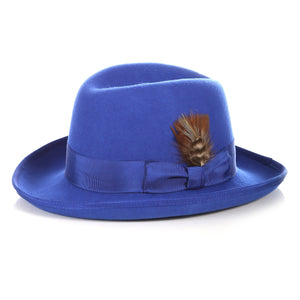 Ferrecci Premium Royal Blue Godfather Hat - Ferrecci USA