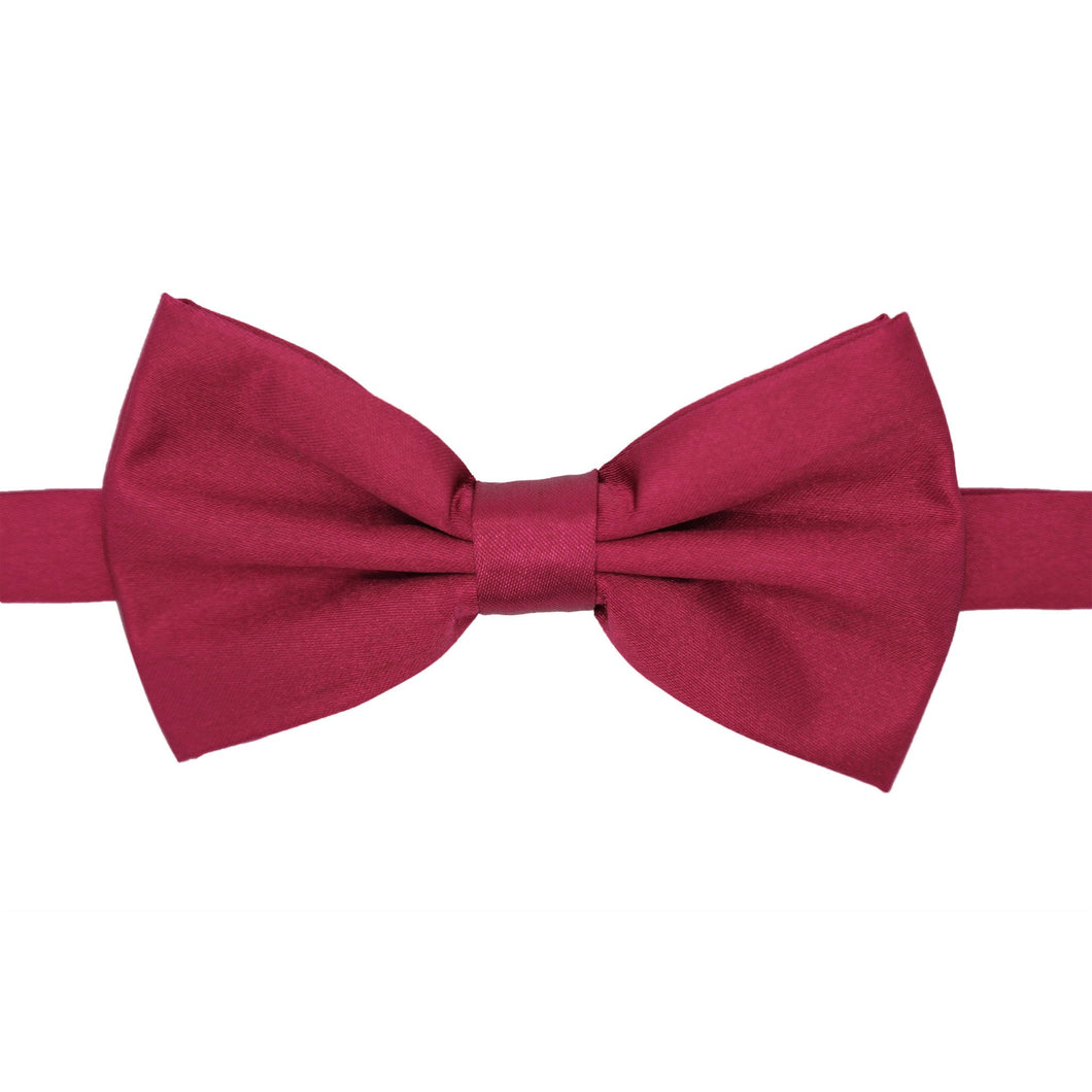 Gia Burgundy Satine Adjustable Bowtie - Ferrecci USA