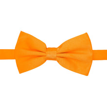Load image into Gallery viewer, Gia Orange Satine Adjustable Bowtie - Ferrecci USA
