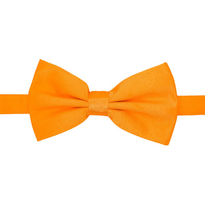 Gia Orange Satine Adjustable Bowtie - Ferrecci USA