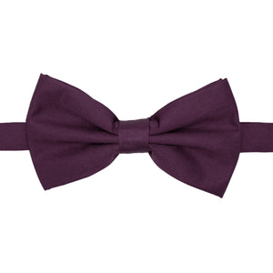 Gia Purple Satine Adjustable Bowtie - Ferrecci USA