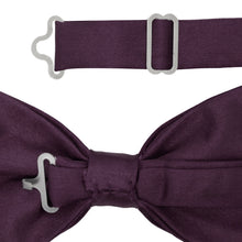 Load image into Gallery viewer, Gia Purple Satine Adjustable Bowtie - Ferrecci USA