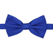 Load image into Gallery viewer, Gia Royal Blue Satine Adjustable Bowtie - Ferrecci USA