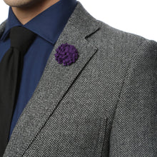 Load image into Gallery viewer, The Hardy Grey Herringbone Super Slim Fit Mens Blazer - Ferrecci USA