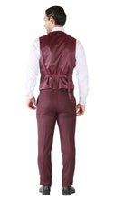 Load image into Gallery viewer, Ferrecci Hart 3 Piece Slim Fit Burgundy Suit - Ferrecci USA