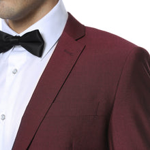 Load image into Gallery viewer, Hudson Burgundy Slim Fit 2 Piece Suit - Ferrecci USA
