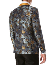 Load image into Gallery viewer, Men's Blue Hugo Floral Modern Fit Shawl Collar Tuxedo Blazer - Ferrecci USA
