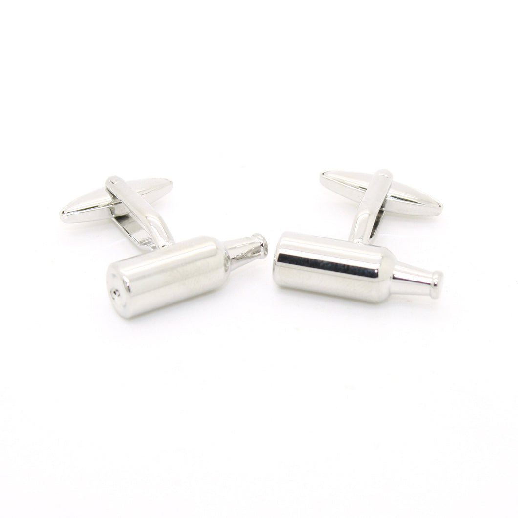 Silvertone Bottle Cuff Links With Jewelry Box - Ferrecci USA