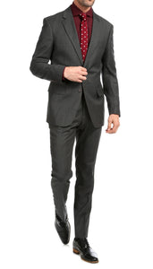 Mason Charcoal Men's Premium 2 Piece Wool Slim Fit Suit - Ferrecci USA