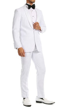 Load image into Gallery viewer, Ferrecci Men's Reno White Slim Fit Shawl Lapel 2 Piece Tuxedo Suit Set - Ferrecci USA
