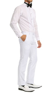 Ferrecci Men's Reno White Slim Fit Shawl Lapel 2 Piece Tuxedo Suit Set - Ferrecci USA