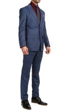 Load image into Gallery viewer, Mason Slate Men's Premium 2 Piece Wool Slim Fit Suit - Ferrecci USA