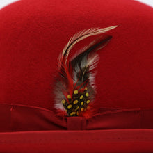 Load image into Gallery viewer, Premium Wool Derby Hat - Red - Ferrecci USA