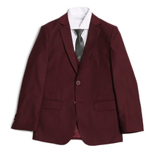 Load image into Gallery viewer, Ferrecci Boys JAX JR 5pc Suit Set Burgundy - Ferrecci USA
