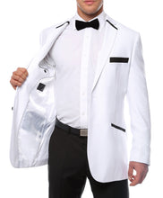 Load image into Gallery viewer, The JerseyBoy White Black Slim Fit Mens Blazer - Ferrecci USA