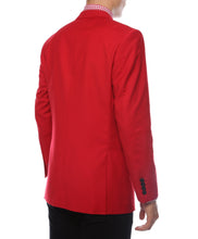 Load image into Gallery viewer, The JerseyBoy Red Black Slim Fit Mens Blazer - Ferrecci USA