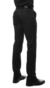 Zonettie Kilo Black Straight Leg Chino Pants - Ferrecci USA