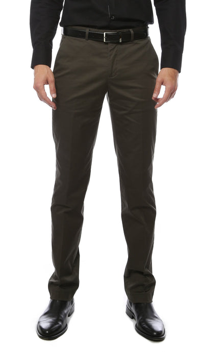 Zonettie Kilo Hunter Green Straight Leg Chino Pants - Ferrecci USA