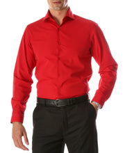 Load image into Gallery viewer, Leo Red Mens Slim Fit Cotton Shirt - Ferrecci USA