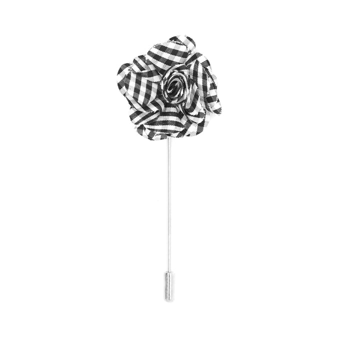 Lois 10 Black White Lapel Pin - Ferrecci USA