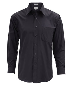 Lucasini Mens Black Regular Fit 300 Series Dress Shirt - Ferrecci USA