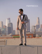 Load image into Gallery viewer, Ferrecci Luna 3 Piece Slim Fit Grey Peak Lapel Tuxedo - Ferrecci USA