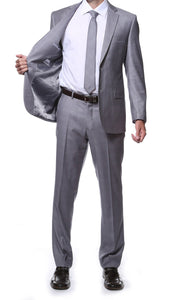 Lincoln Grey 2 Piece Slim Fit Plaid Suit - Ferrecci USA